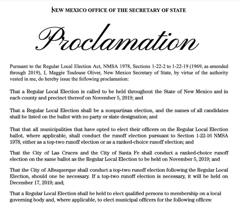 2019 11 05 general election proclamation english
