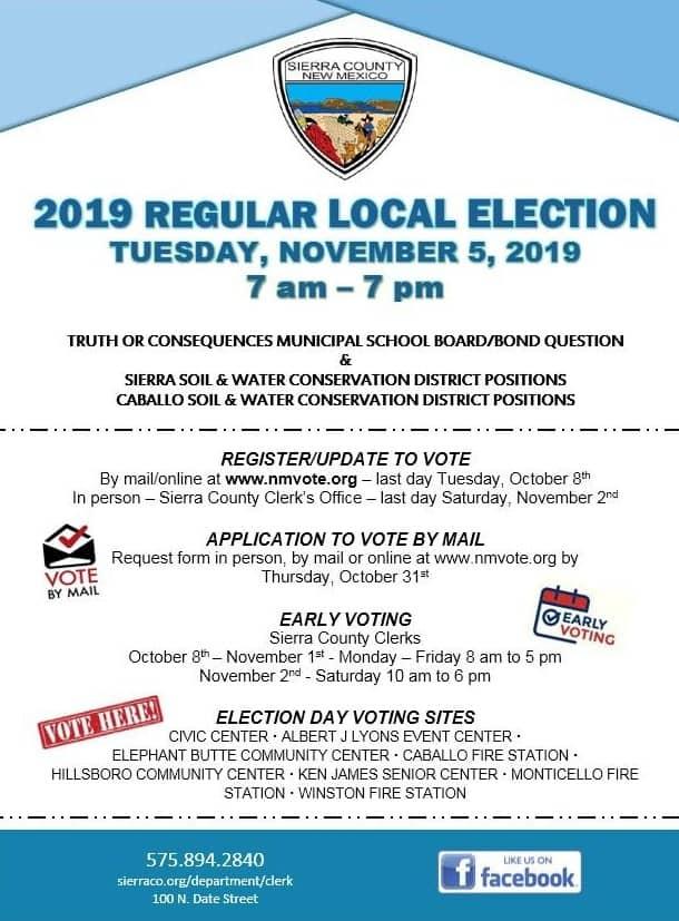 2019 November 5 Sierra County election