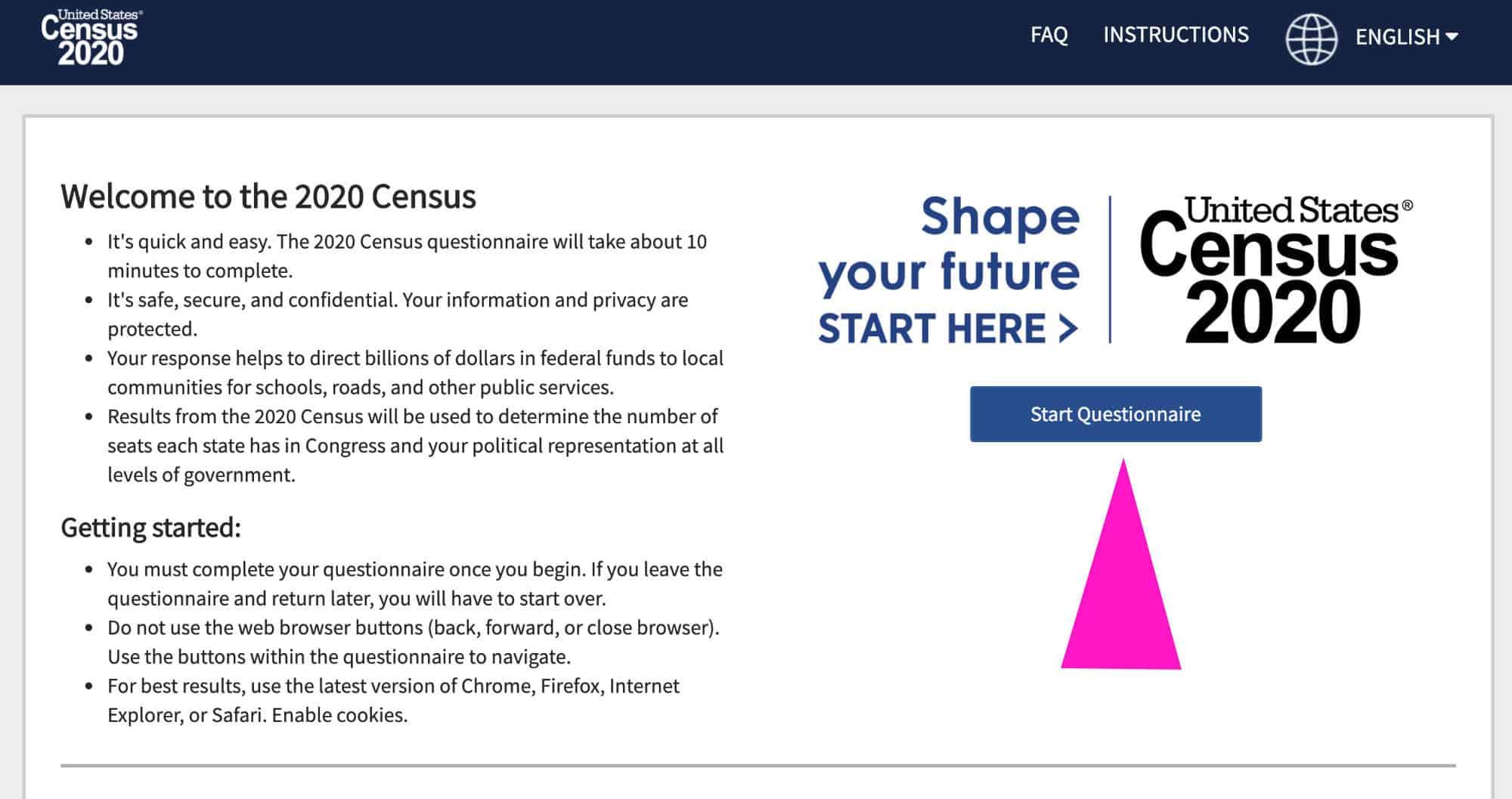 census no id step 1