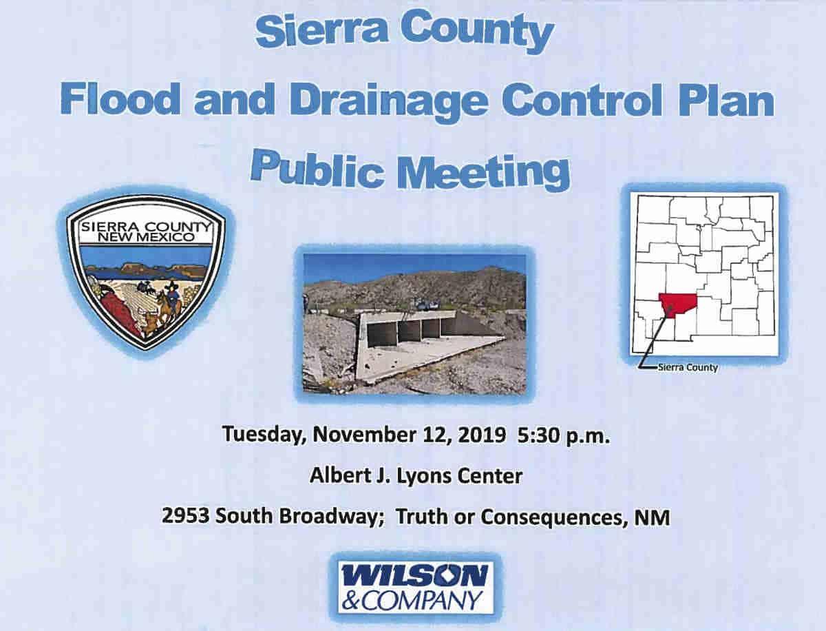 flood and drainage control plan public hearing sierra county