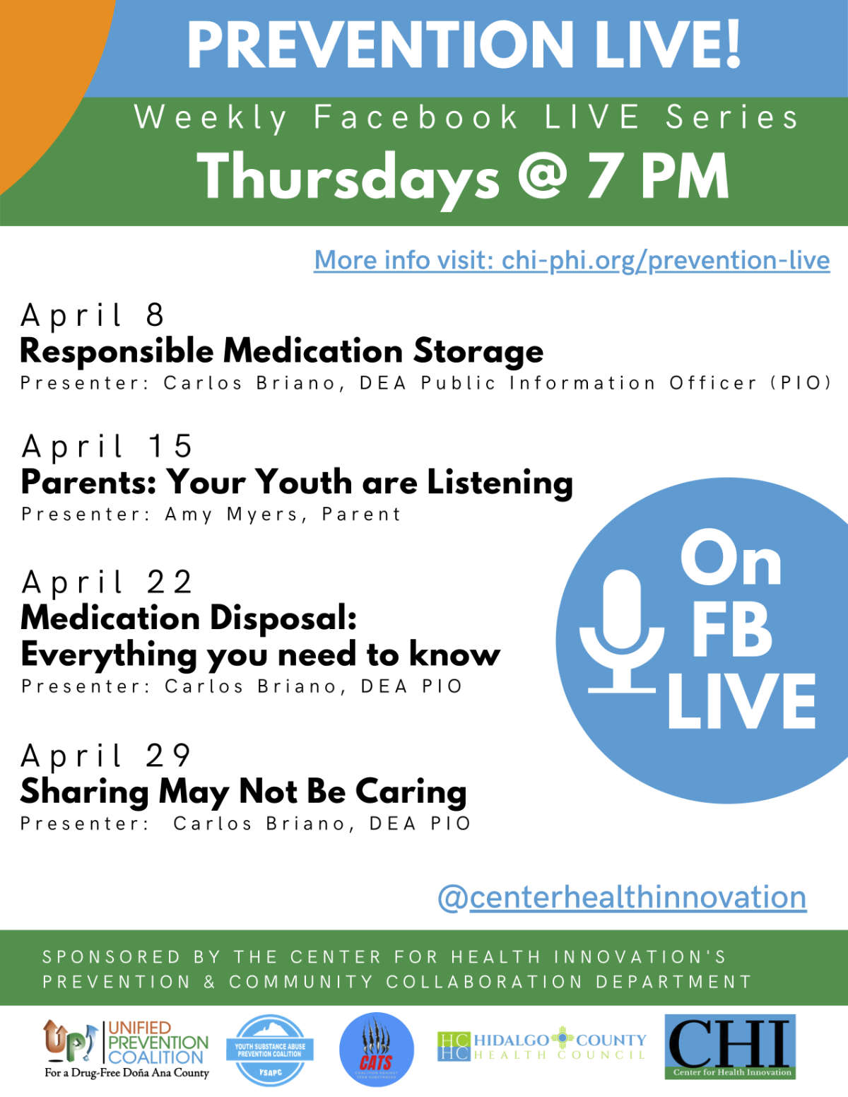 prevention live weekly facebook live series april 2021 english