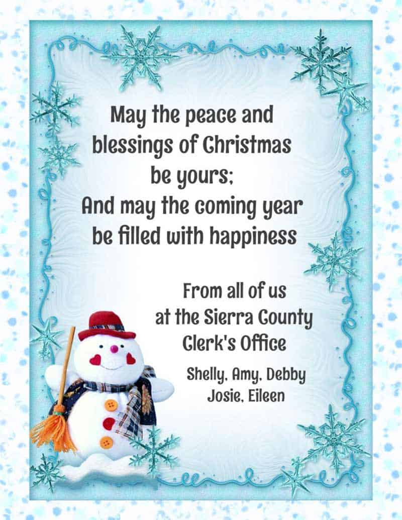 sierra county clerk christmas greeting 2018