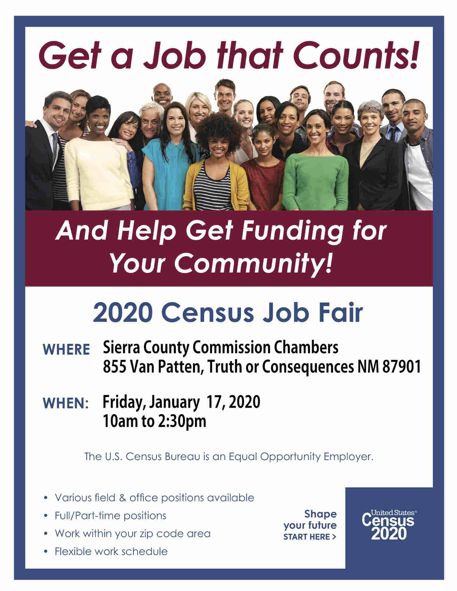 2020 Census JOB FAIR in Sierra County NM