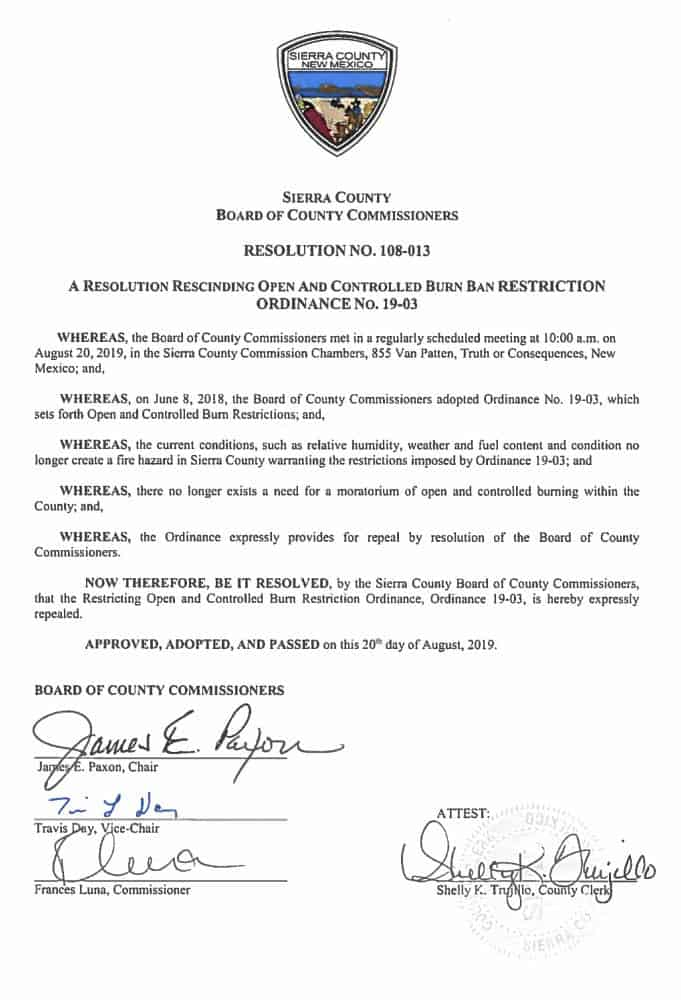 sierra county resolution 108 013