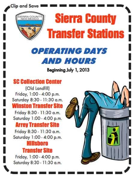 sierra county transfer station hours